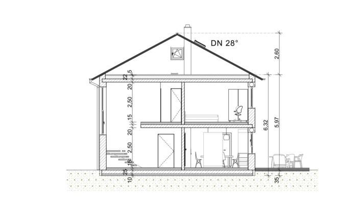 Einfamilienhaus mit 167 qm ohne Keller, Schnitt