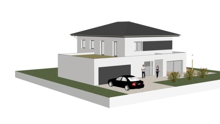 Einfamilienhaus mit 188 qm ohne Keller, Ansicht 2