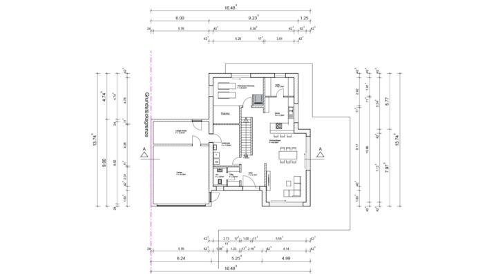 Einfamilienhaus mit 188 qm ohne Keller, Grundriss Erdgeschoss