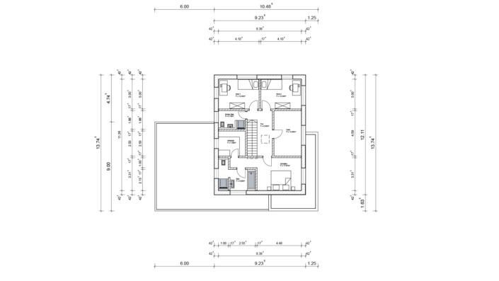 Einfamilienhaus mit 188 qm ohne Keller, Grundriss Obergeschoss