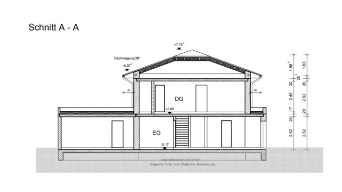 Einfamilienhaus mit 188 qm ohne Keller, Schnitt