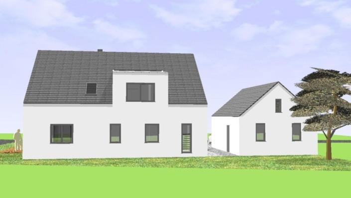 Einfamilienhaus ohne Keller mit 191 qm, Ansicht Nordost