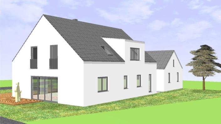 Einfamilienhaus ohne Keller mit 191 qm, Ansicht Ost