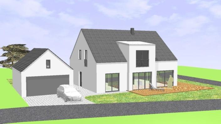 Einfamilienhaus ohne Keller mit 191 qm, Ansicht West