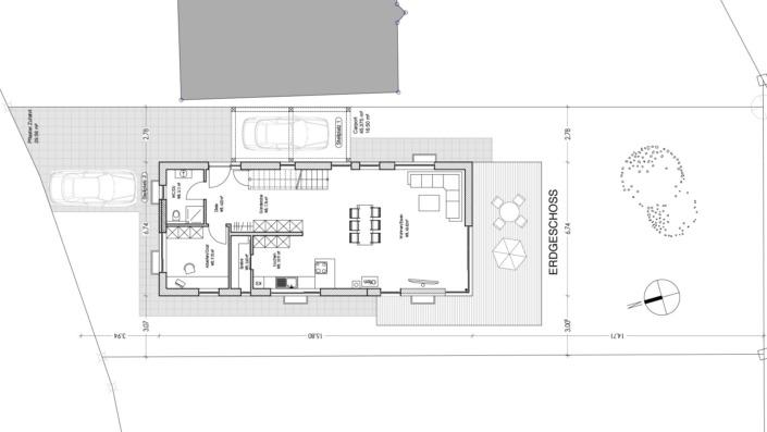 Schmales Einfamilienhaus mit 151 qm, Grundriss