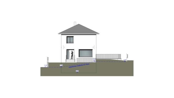 Schmales Einfamilienhaus mit 151 qm, Ansicht Nordwest