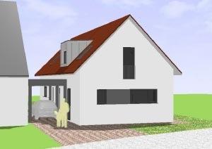 Schmales Haus mit 151 qm