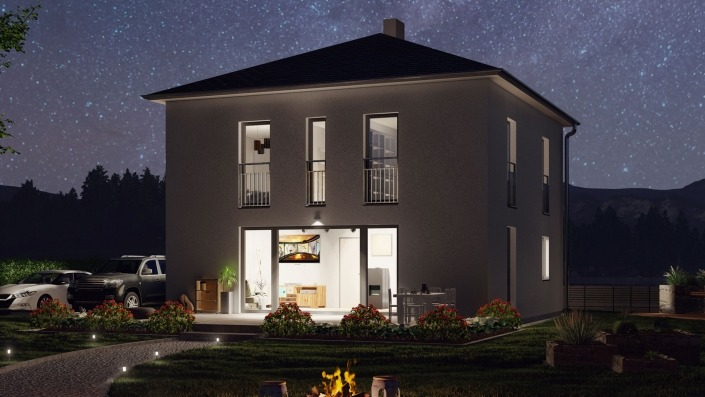 Haus des Monats Februar, Visualisierung Nacht