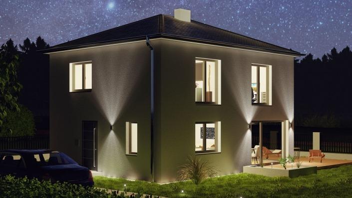Visualisierung Nacht Haus 110-2