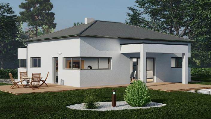 Einfamilienhaus mit 127 qm ohne Keller, Visualisierung Tag