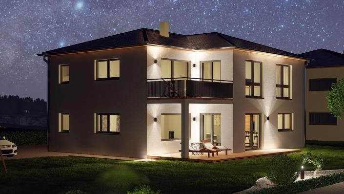 Visualisierung Haus des Monats Mai 2021, Nacht