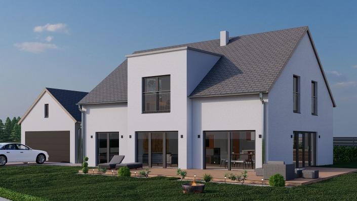 Visualisierung Haus mit 191 qm