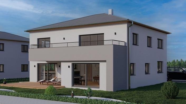 Visualisierung Zweifamilienhaus