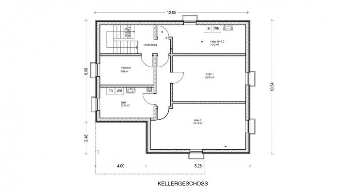 Grundriss Keller Haus des Monats Mai 2021