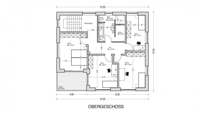 Grundriss Obergeschoss Haus des Monats Mai 2021